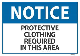 Notice Protective Clothing Required 240x340mm