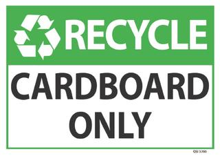 Recycle Cardboard Only 340x240mm