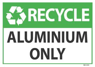 Recycle Aluminium Only 340x240mm