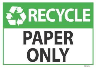 Recycle Paper Only 340x240mm