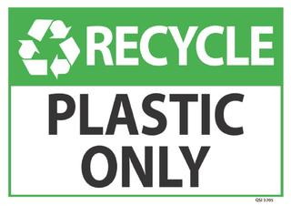 Recycle Plastic Only 340x240mm