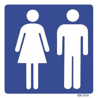 Woman/Man Toilets 182 x 180mm