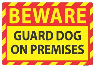 Beware Guard Dog 340x240mm