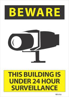 Beware This Building is under... 340x240mm