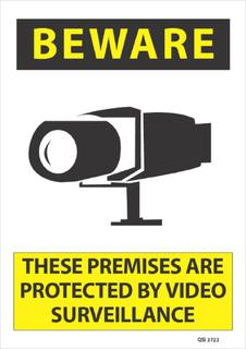 Beware These Premises are Protected.... 340x240mm