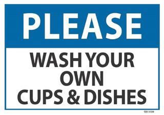 Please Wash your own... 340x240mm