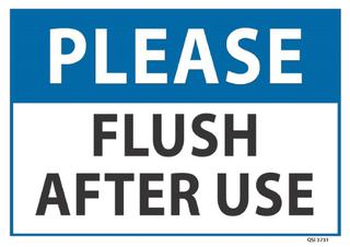 Please Flush after use 340x240mm