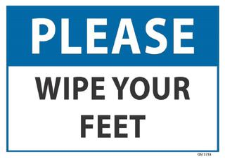 Please Wipe your feet 340x240mm