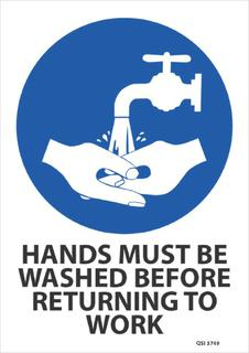 Hands must be washed 340x240mm