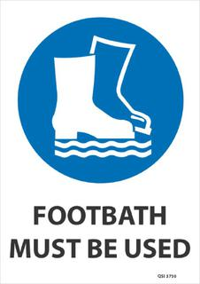 Footbath must be used 340x240mm