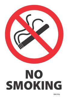 No Smoking 340x240mm