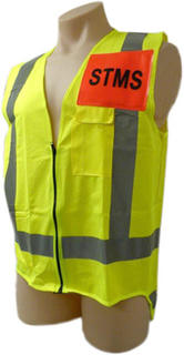 Vest Lime Yellow STMS - Site Traffic Management Supervisor