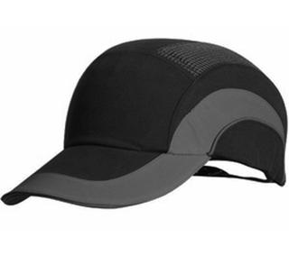 Bump Cap Standard Peak - Black/Grey