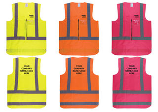 Custom Printed Safety Vest Printed Hi Viz Day Night