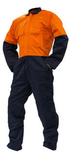 100% Day Only Cotton Overall Navy Orange
