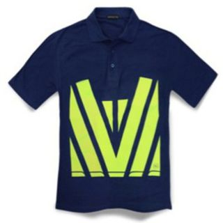 Hi Vis Polo Navy Yellow
