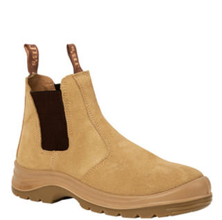 JB's Elastic Sided Safety Boot Sand Suede
