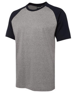 JB's 100% Cotton Two Tone Tee - Select Colour