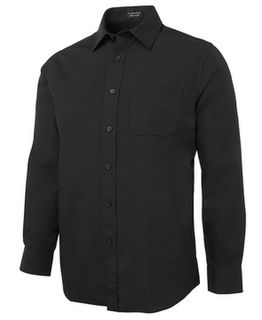 JB's Long Sleeve Classic Poplin Shirt Black