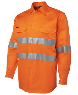 JB's Hi Vis Long Sleeve (D+N) 190G Shirt With Tape
