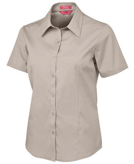 Ladies Short Sleeve Poplin Shirt - Select Colour