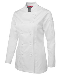Ladies Long Sleeve Chef's Jacket - Select Colour