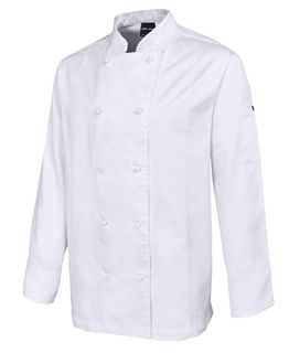 JB's Long Sleeve Vented Chefs Jacket White