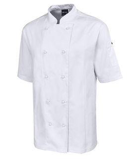 JB's Short Sleeve Vented Chefs Jacket White