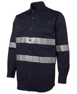 Long Sleeve 190G Shirt With 3M Tape - Navy