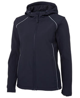 Ladies Hooded Soft Shell Jacket - Select Colour