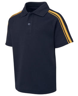 Kids and Adults Dual Stripe Cotton Back Polo - Select Colour