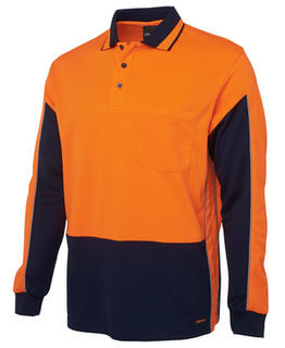 Hi Vis Long Sleeve Gap Polo - Select Colour