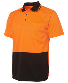 Hi Vis Non Cuff Traditional Polo - Select Colour