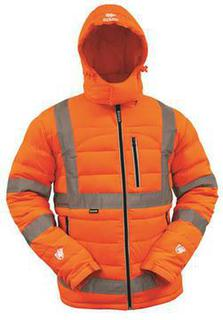 Bison Day Night Puffer Jacket Orange