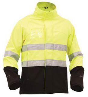 Bison Day Night Soft Shell Rain Jacket Yellow Black