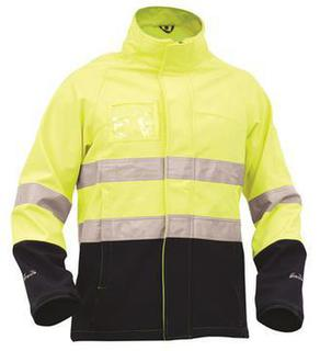 Bison Day Night Soft Shell Rain Jacket Yellow Navy