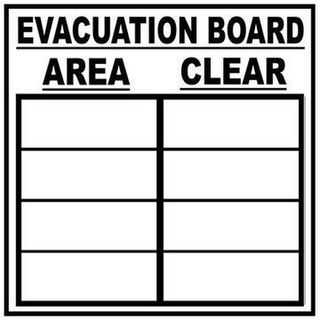 Evacuation White Board 500x500mm