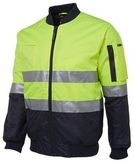 Hi Vis (D+N) Flying Jacket Lime/Navy
