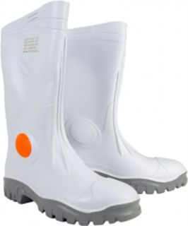 Stimela Gumboots White With Steel Toe