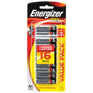 Energizer Max AA Blister Pack 16