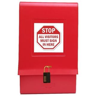 SDS Outdoor Document Lockable Box Red