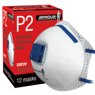 Armour Disposable Respirator Valve Mask P2