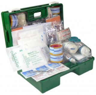 Industrial 1-25 Person First Aid Kit (Wall Mountable Clip On/Off Box)