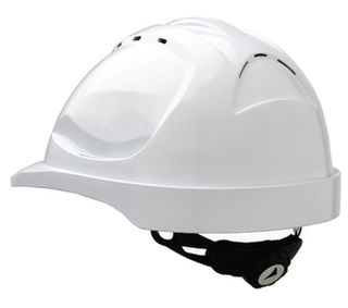 Hard Hat V9 Vented Ratchet Adjustment White