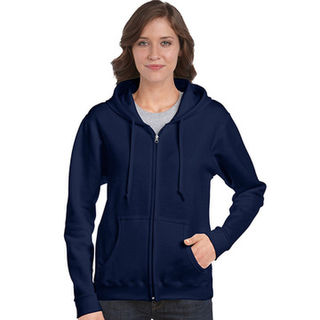 Semi-fitted Ladies Full Zip Hooded Sweatshirt