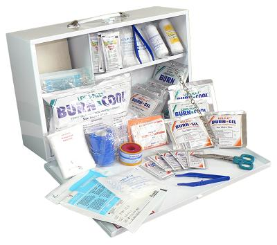 Industrial Burns Kit (Wall Mountable Metal Box)