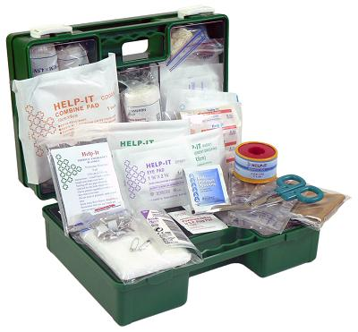 Large Retail Outlet First Aid Kit (Wall Mountable Clip On/Off Box)