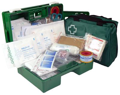 Office 1-12 Person First Aid Kit (Wall Mountable Clip On/Off Box)