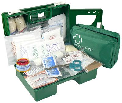 Office 1-5 Person  First Aid Kit (Wall Mountable Clip On/Off Box)