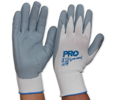 Gloves Extra Flex Grey Foam Nitrile Coated Palm